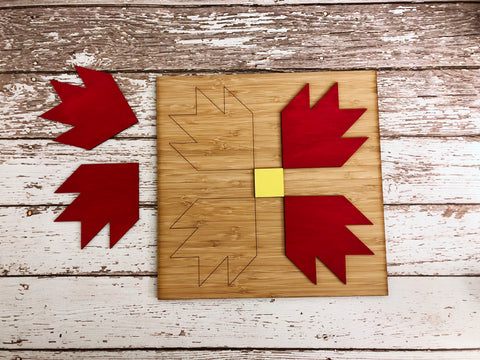 "10"" Oversized Bear Paw Mini Barn Quilt Kit"