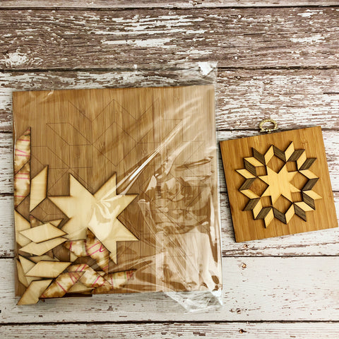 "10"" Oversized Carpenter Star Mini Barn Quilt Kit"