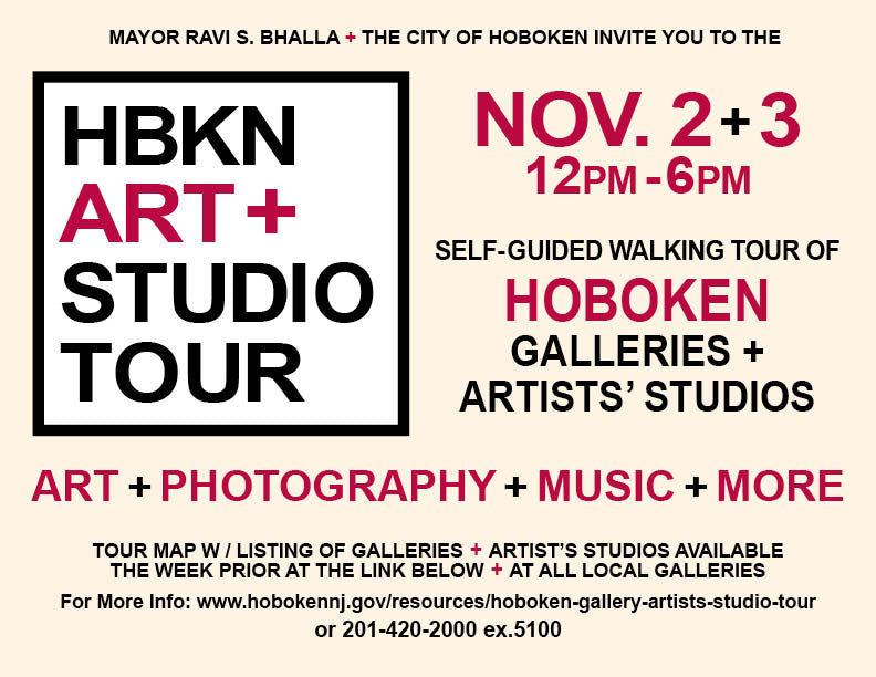 HBKN ART+ STUDIO TOUR poster