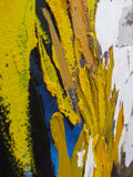 Second alternate detail of lower part of diptych showing broad brushstrokes