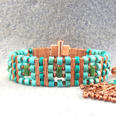 Photo of turquoise beaded bracelet