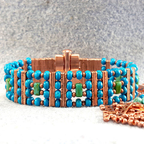 Photo of blue beaded bracelet