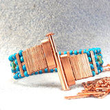 Photo of blue beaded bracelet unclasped
