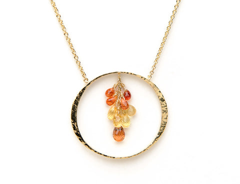 Shown with yellow and orange sapphires