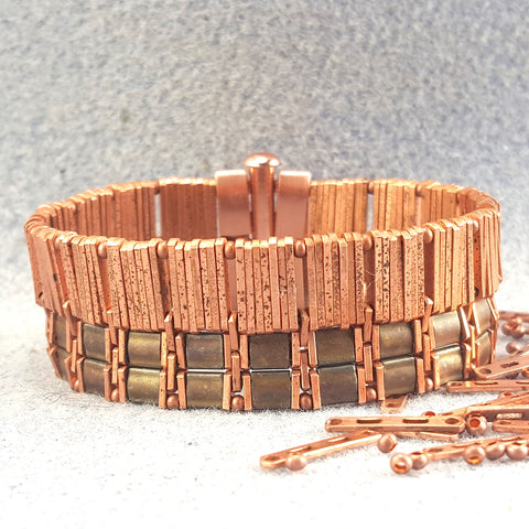 Wide copper bracelet