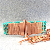 Photo of turquoise beaded bracelet clasp