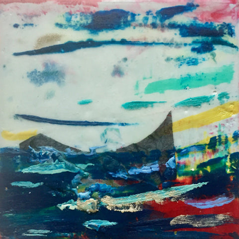 Encaustic of abstract colors