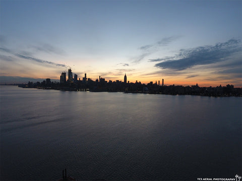 Sunset over Manhattan NYC