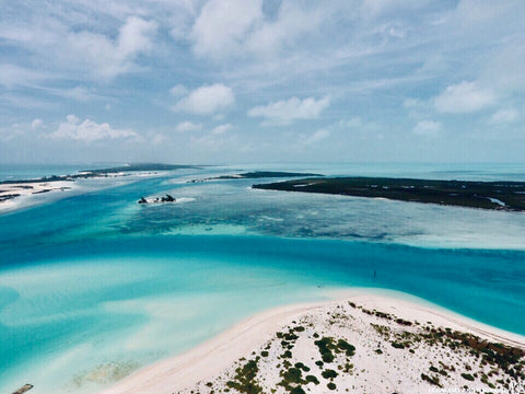 Aerial view of parts of the Turks and Caicos islands