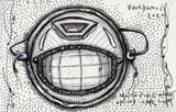 Fantasy drawing of masked globe