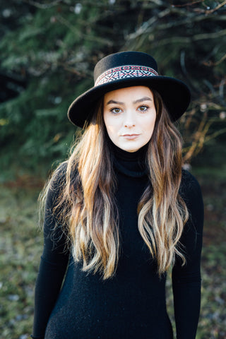 Valentina Wool Felt Hat in Jet Black
