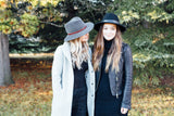 Madeline Wool Felt Hat in Gunmetal