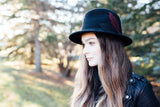 Jude Wool Felt Hat in Jet Black
