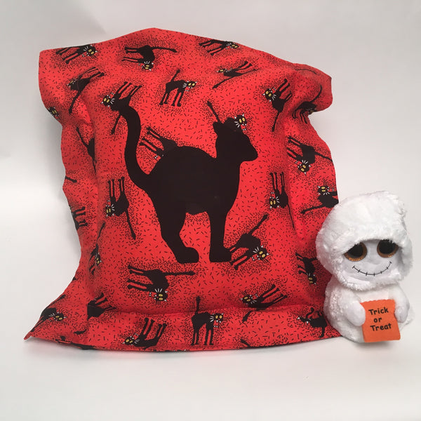 Halloween Flange Scary Cat Holiday Pillow