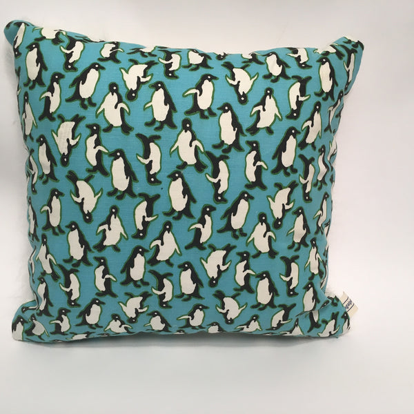 Penguins Holiday Pillow