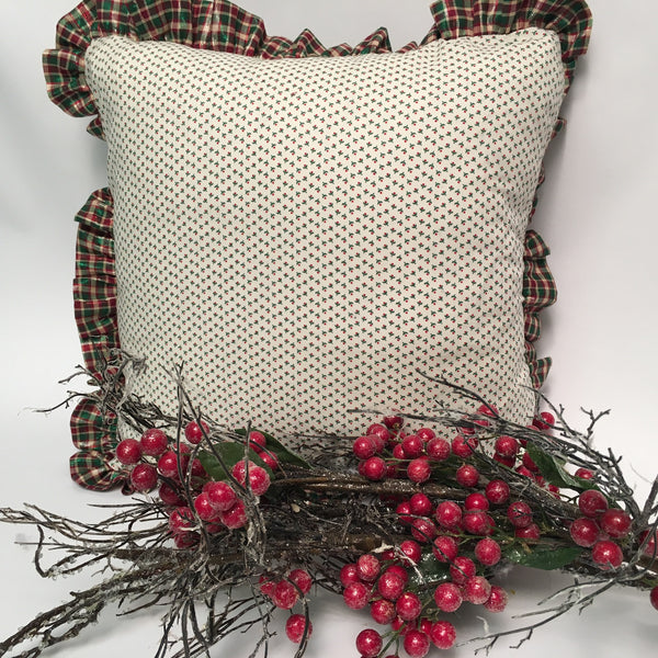 Holly Holiday Pillow