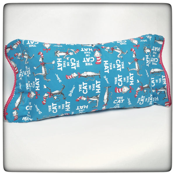 Cat in the Hat Lumbar Pillow with trim