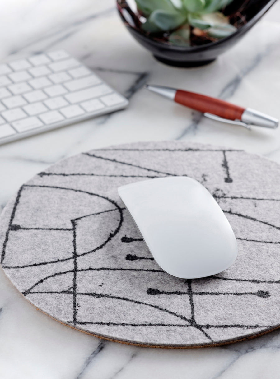 Mouse Pad Chalkline Grey