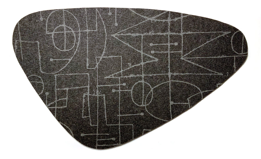 Chalkline Charcoal Placemat