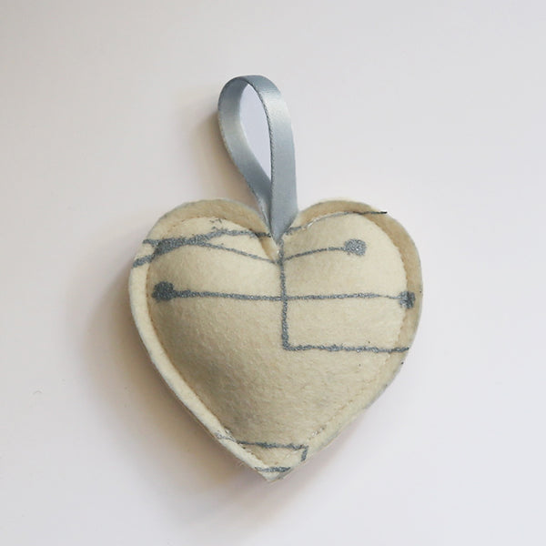 Chalkline Heart Ornament