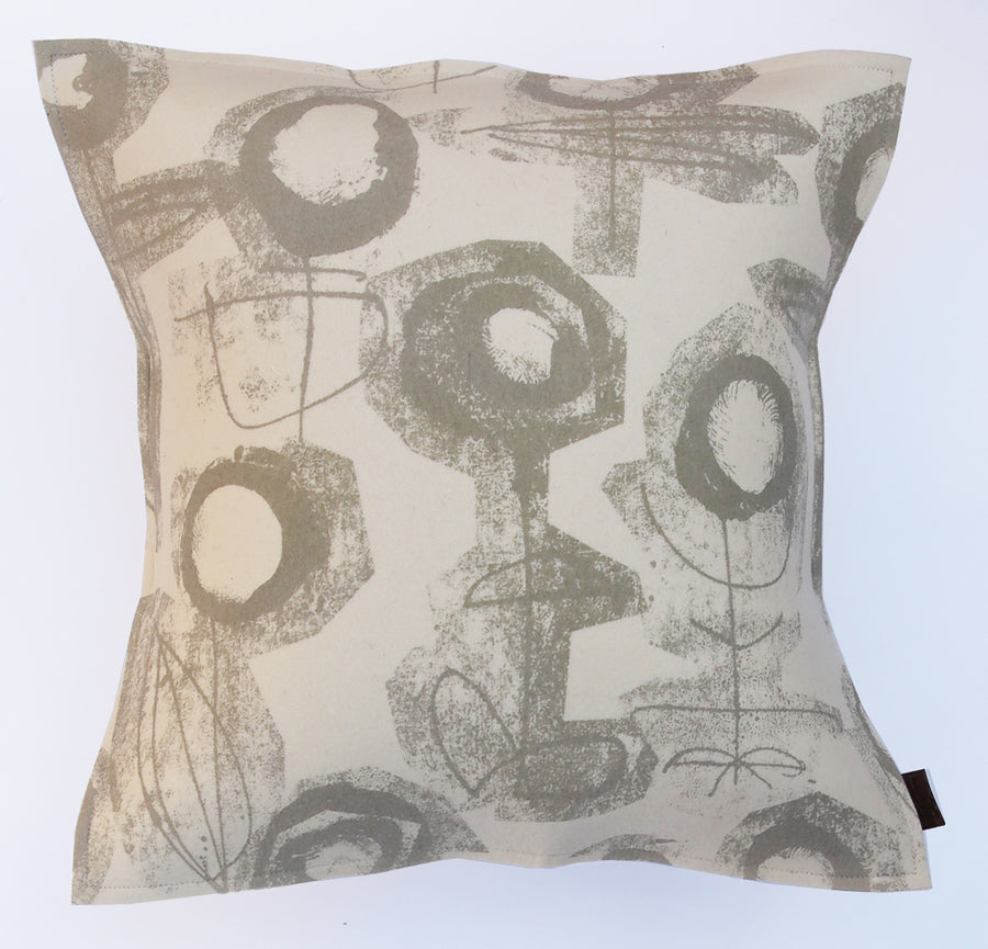 Cushion Fingerprint Flower Ivory