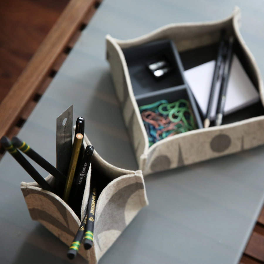 Pen/Pencil Desk Organizer GeoJazz Charcoal