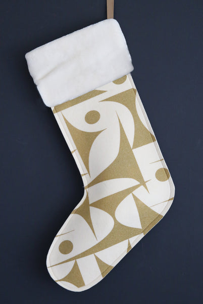 Geo Jazz Gold Stocking