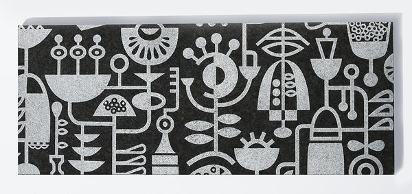 Living Laboratory Table Runner Charcoal