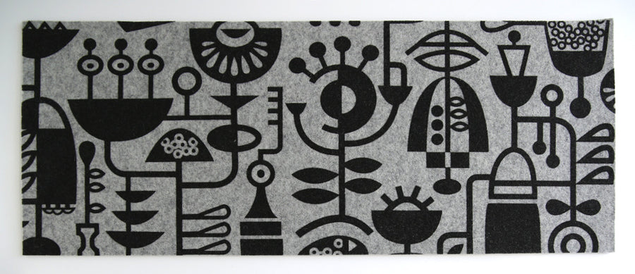 Table Runner Living Laboratory Grey