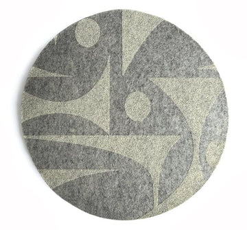 GeoJazz Light Grey Mouse Pad