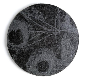 Fingerprint Flower Charcoal Mouse Pad