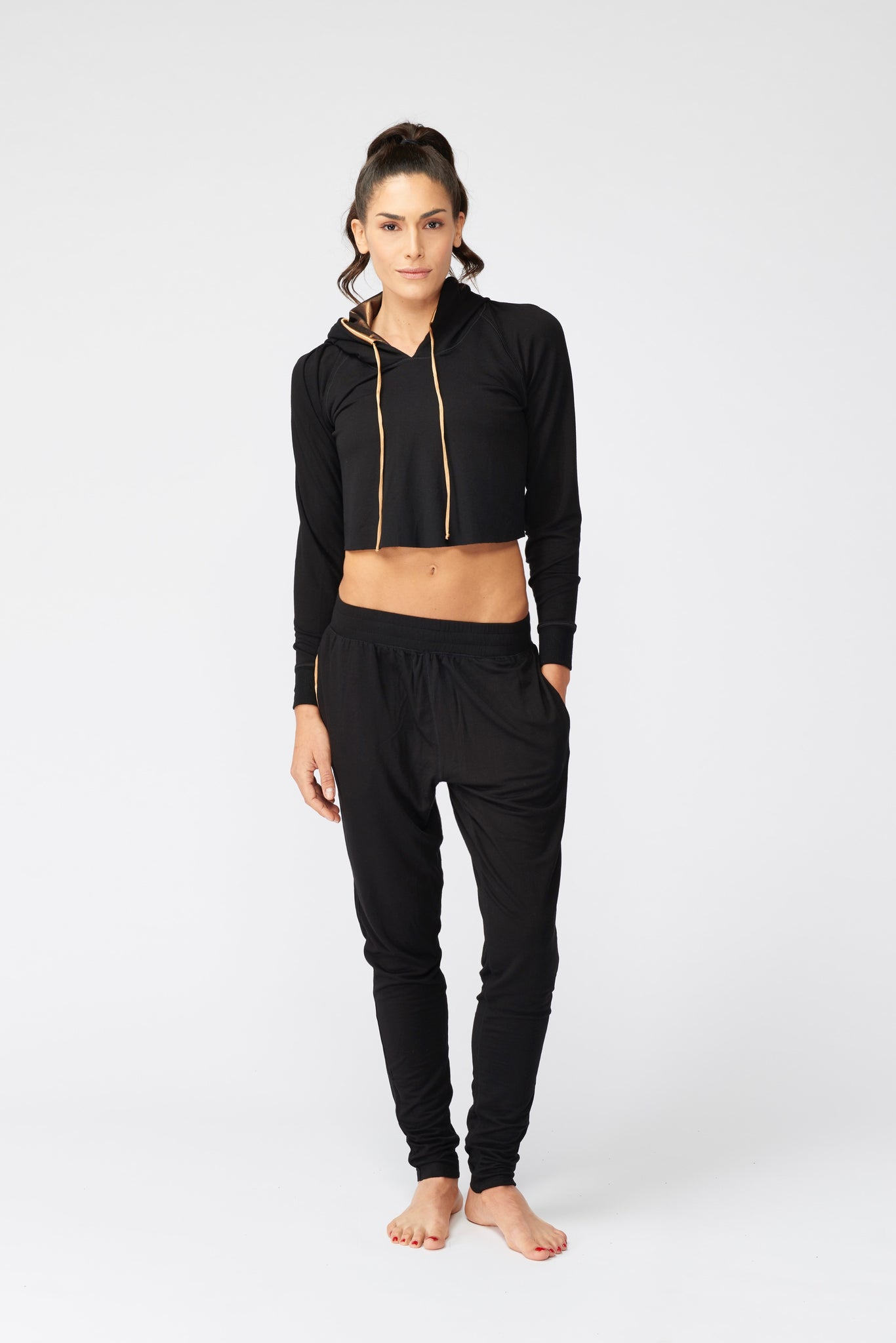 Women's Cropped Hoodie By C2