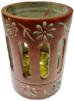 Coloured Incense / Resin Burner- Red