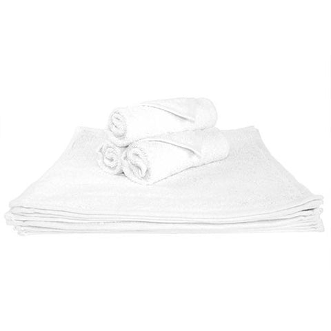 1x Spa Face Towel White