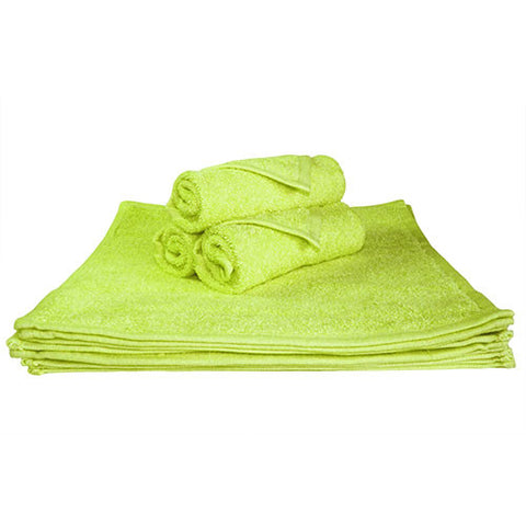 1x Face Towel Lime Green