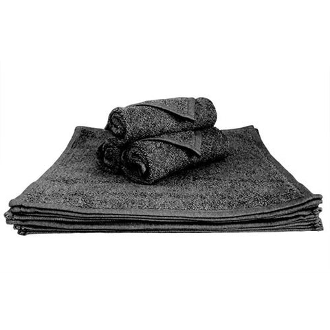 1x Face Towel Black