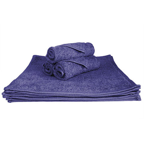 1x Face Towel Navy Blue
