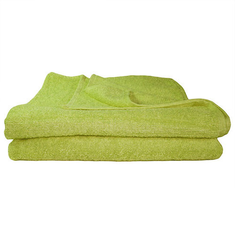 1x Bath Towel Lime Green