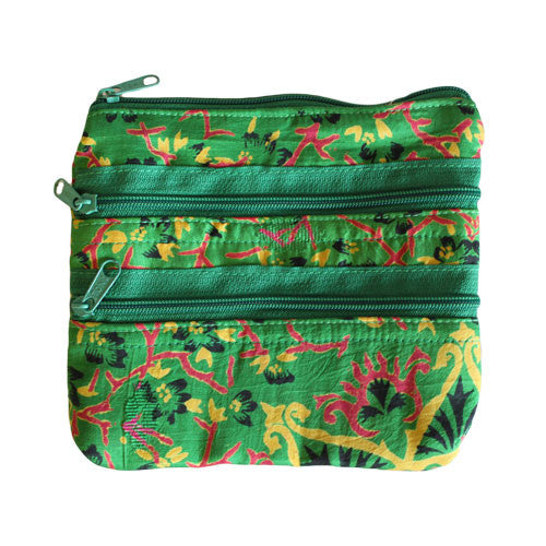 Alpana Silk Jewellery Pouch - Green