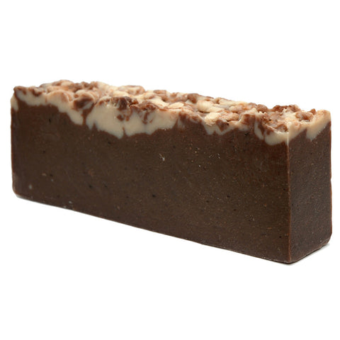 Chocolate Olive Oil Artisan Soap Slice