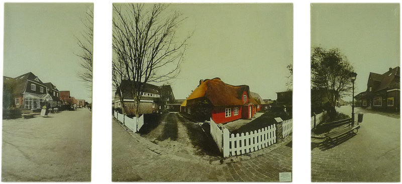 Village Life - Left 60 x 30cm Middle 60 x 60cm Right 60 x 30cm