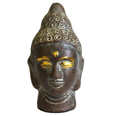 Antique Buddha Head - Chocolate