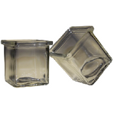 Clear - Votive Candle Holder - Chunky Square