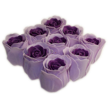 Bath Roses - 9 Roses in Gift Box (Lavender)