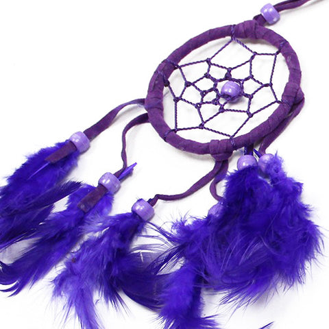 6x Bali Dreamcatchers - Small Round - Turq/Pink/Purp