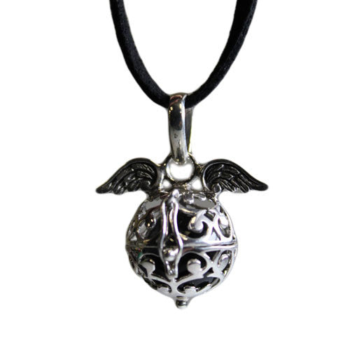 Angel Wings & Bell - Black