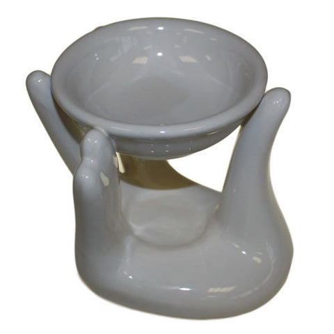 Helping Hand Oil Burner - White