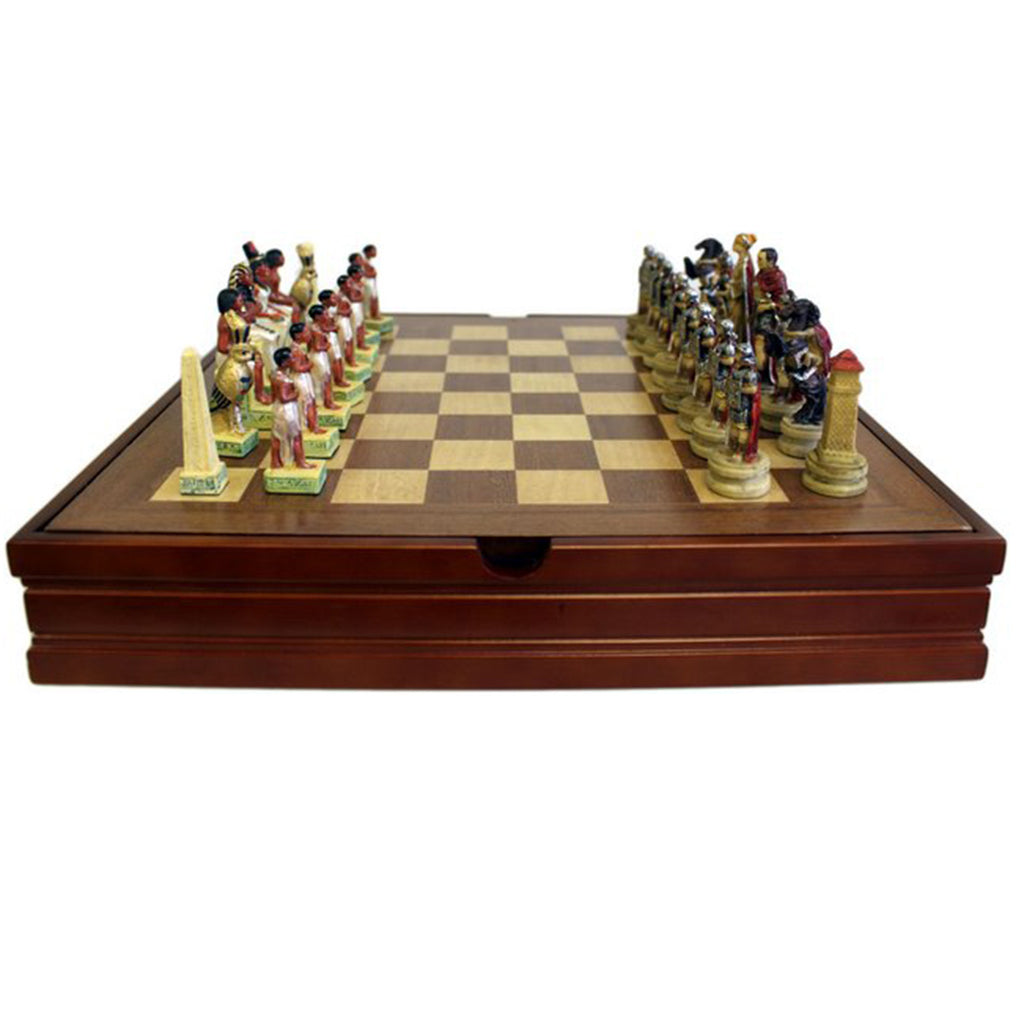 1x Themed Chess Set - Egyptian vs Romans - 35 cm