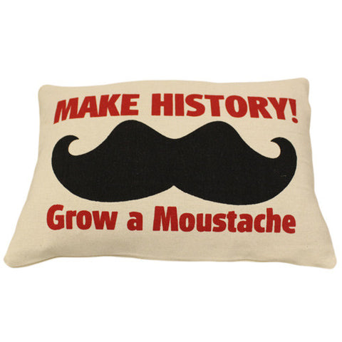Canvas Cushion Cover - Make HISTORY