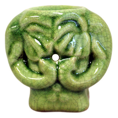 Elephant Green Jade Oil Burner
